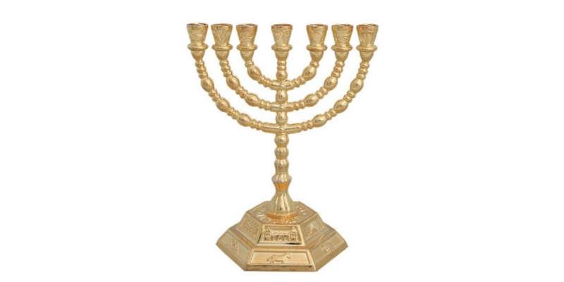 Candelabro judío de 7 brazos Menorá World Of judaica