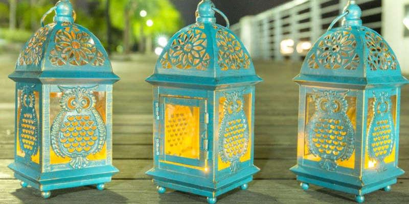 Los faroles para velas son perfectos para una cena romántica en exteriores barato baratos precio precios comprar ikea zara home