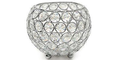 Portavelas de cristal decorativo Vincigant 12 cm