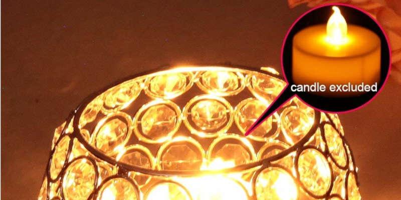 Portavelas de cristal decorativo Vincigant compatible con velas y led barato baratos precio precios comprar oferta Ikea rebajas