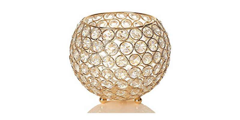 Los portavelas de gemas de cristal irrandian una luz muy especial barato baratos precio precios ikea zara home comprar precio precios barata baratas