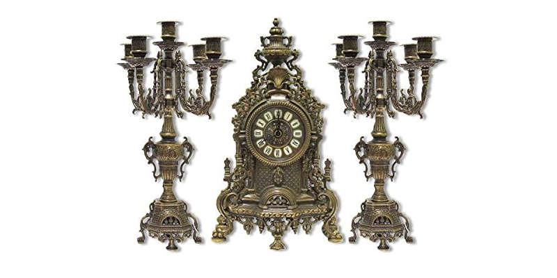 Reloj y candelabros de bronce barato baratos comprar precio precios